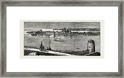 General View Of Wolfe Island, British Naval Defences Framed Print by Litz Collection
