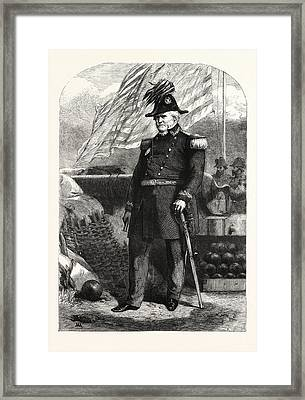 General Winfield Scott Commander-in-chief Of The United Framed Print by American School