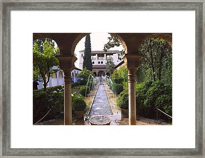 Generalife Alhambra. Spain. Andalusia Framed Print