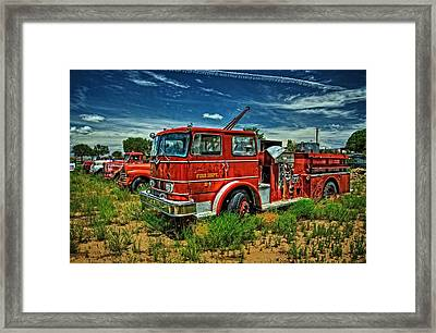 Framed Print featuring the photograph Generations Of Fire Fighting Equipment by Ken Smith