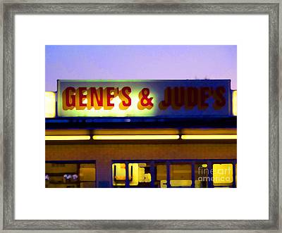 Genes  And Judes Framed Print by David Bearden