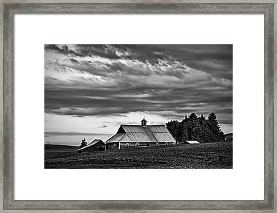Genesee Barn Framed Print by Latah Trail Foundation