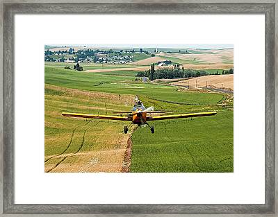 Genesee Crop Dusting Framed Print