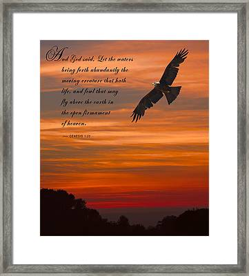 Genesis 1-20 Scripture Framed Print by Daniel Hagerman