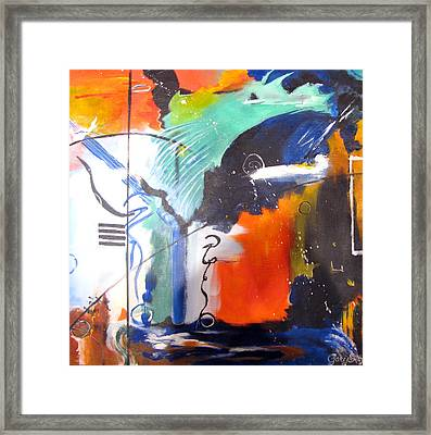 Genesis 1 Vs. 2 God Framed Print