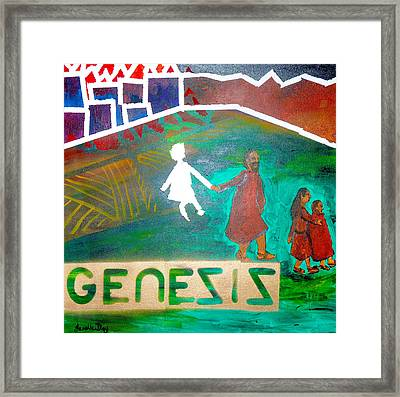 Framed Print featuring the painting Genesis  By Janelle Dey by Janelle Dey