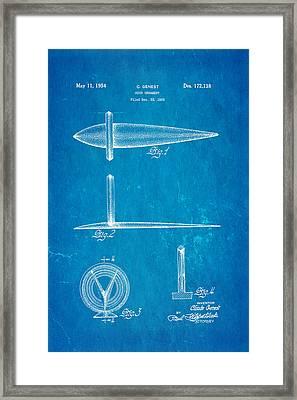 Genest Hood Ornament Patent Art Blueprint Framed Print by Ian Monk