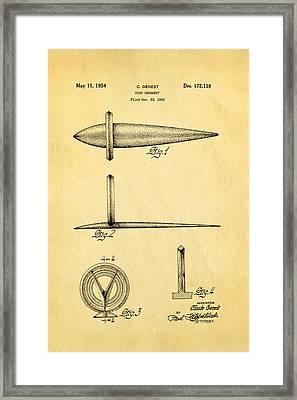 Genest Hood Ornament Patent Art Framed Print by Ian Monk