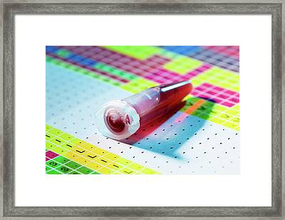Genetic Testing Framed Print