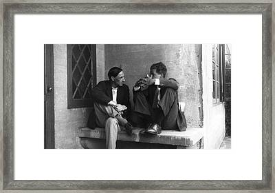Geneticists Dunn And Ephrussi Framed Print by American Philosophical Society