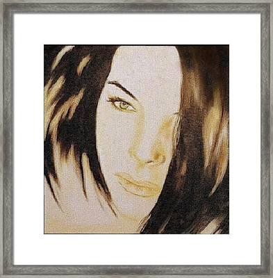 Geneva Girlfriend - Mab Framed Print by Mirko Gallery