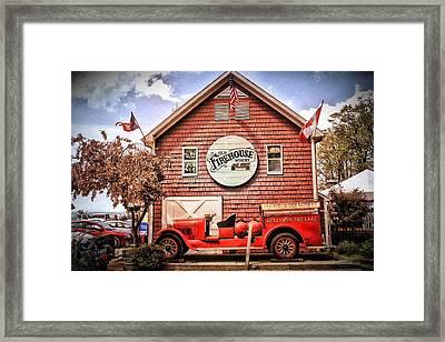 Geneva On The Lake Firehouse Framed Print