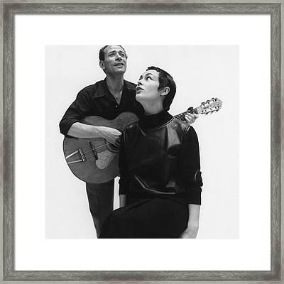 Genevieve And Luc Poret Framed Print