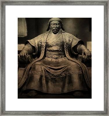 Genghis Khan Framed Print by Dan Sproul