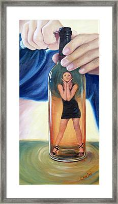 Genie In A Bottle Framed Print