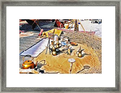 Framed Print featuring the photograph Genie Sandpit by Cassandra Buckley