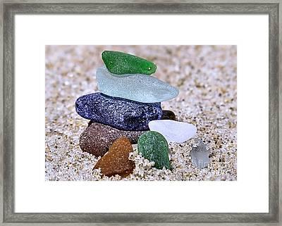 Genuine Sea Glass Framed Print