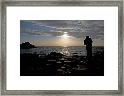 Genius In The Light -- Giant's Causeway -- Ireland Framed Print
