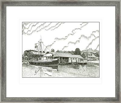 Genius Fishing Trawler Gig Harbor Framed Print