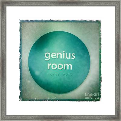 Framed Print featuring the photograph Genius Room by Nina Prommer