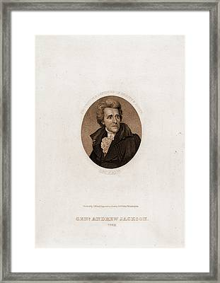 Genl. Andrew Jackson, 1828. Protector & Defender Of Beauty Framed Print