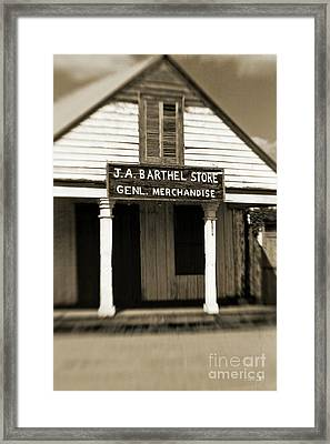 Genl Merchandise Framed Print by Scott Pellegrin