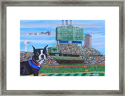 Geno At Wrigley 2014 Framed Print by Mike Nahorniak