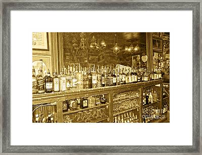 Genoa Bar Oldest Saloon In Nevada's Old West History Framed Print by Artist and Photographer Laura Wrede