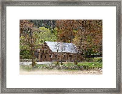 Genoa Barn Framed Print