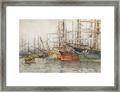 Genoa Harbour, 1904 Framed Print by Henry Scott Tuke