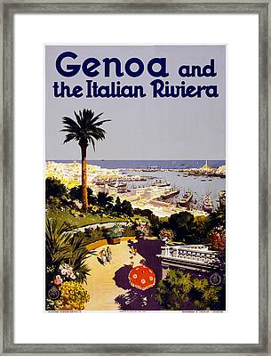 Genoa Italy Framed Print by Georgia Fowler