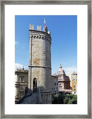 Genoa, Liguria, Italy. Porta Soprana Framed Print