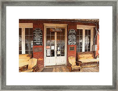 Genoa Saloon Oldest Saloon In Nevada Framed Print by Artist and Photographer Laura Wrede