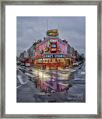 Geno's 7 Framed Print by Jack Paolini