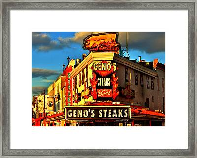 Geno's Framed Print by Benjamin Yeager
