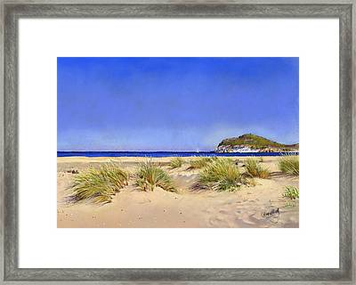 Genoveses Beach Framed Print by Margaret Merry