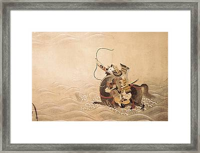 Genpei War Episodes 18th C.. Work Framed Print by Everett