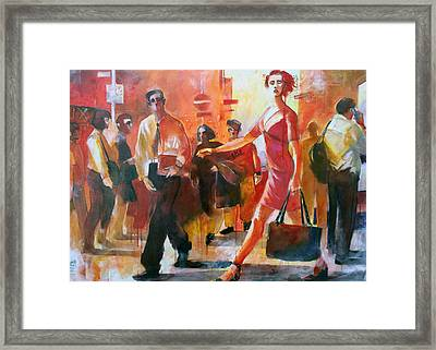 Gente Per Strada Framed Print by Alessandro Andreuccetti