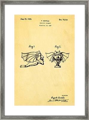 Gentile Radiator Ornament Patent Art 1928 Framed Print by Ian Monk