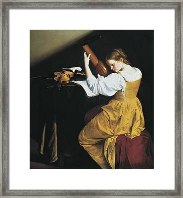 Gentileschi, Orazio Lomi 1565-1638. The Framed Print by Everett