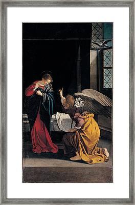 Gentileschi Orazio, The Annunciation Framed Print by Everett