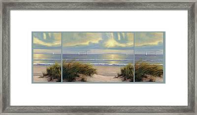 Gentle Breeze Trip Tych Framed Print