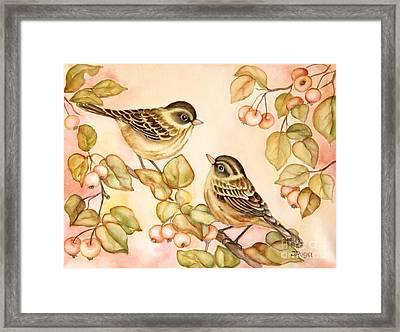 Gentle Couple Framed Print