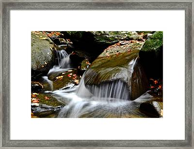Gentle Falls Framed Print by Frozen in Time Fine Art Photography