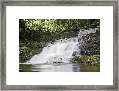 Gentle Falls Framed Print by Tony Reddington