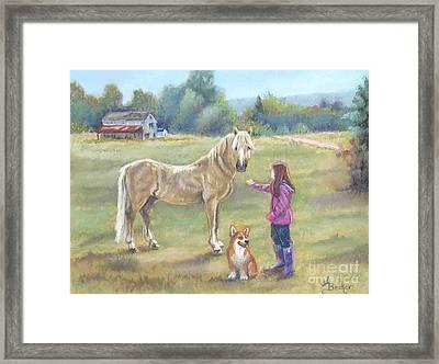 Gentle Friends Framed Print by Ann Becker