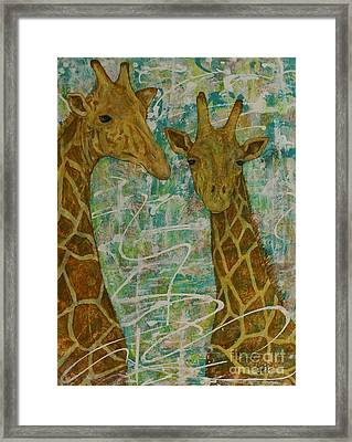 Framed Print featuring the painting Gentle Giants by Jane Chesnut