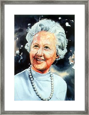 Gentle Grandmother Portrait Framed Print