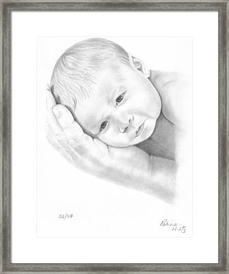 Framed Print featuring the drawing Gentle Innocence by Patricia Hiltz