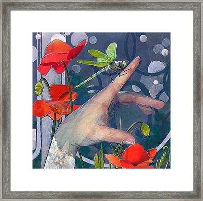 Gentle Landing Framed Print